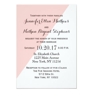Light Salmon Pink and Gray Two Tone Card