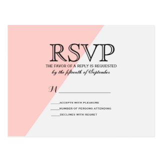 Light Salmon Pink and Gray Two Tone Postcard