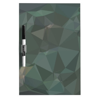 Light Sea Green Abstract Low Polygon Background Dry Erase Board