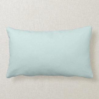 Light Seafoam Blue Green Colour Trend Sea Foam Lumbar Pillow