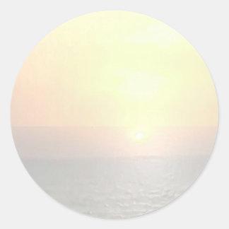 Light Shade Blank Background - Sunshine Toronto Round Sticker