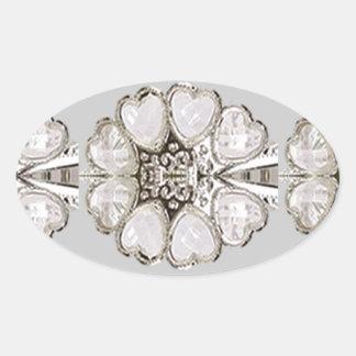 Light Shade Imitation Jewel Pattern HOLIDAY GIFTS Oval Sticker