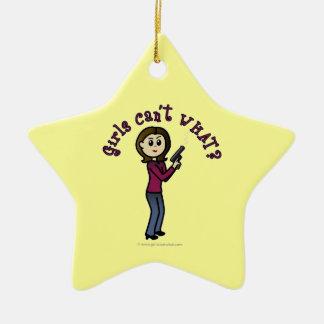 Light Sharpshooter Girl Christmas Ornaments