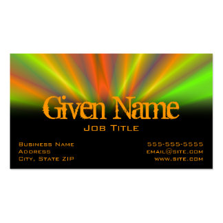 Light Show Profile Card Pack Of Standard Business Cards