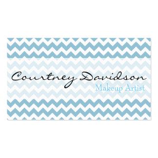 Light Sky Blue Chevron Business Cards