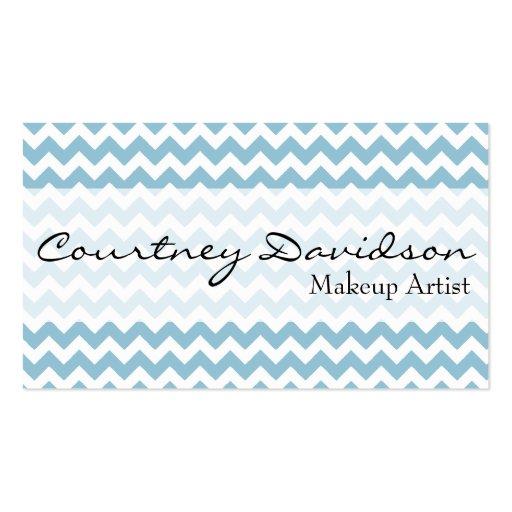 Light Sky Blue Chevron Custom Business Cards