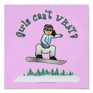 Light Snowboarder Poster