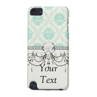 light soft shades of green and ivory damask design iPod touch (5th generation) cases