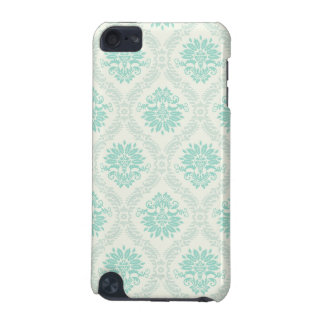 light soft shades of green and ivory damask design iPod touch 5G covers