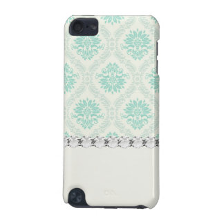 light soft shades of green and ivory damask design iPod touch (5th generation) covers