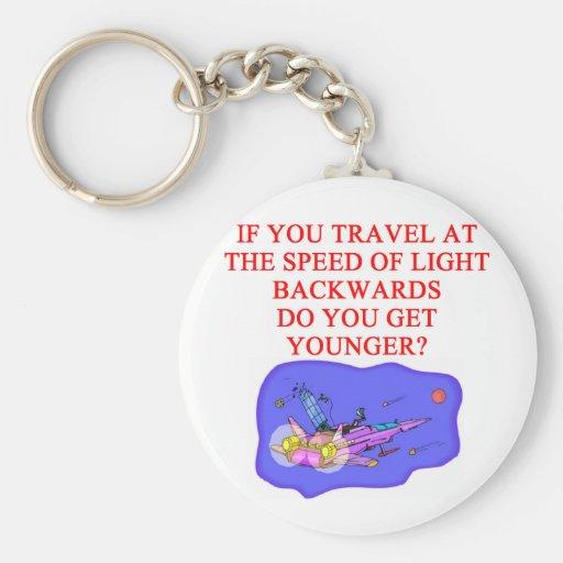 light speed phyisics joke keychains