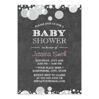 Light Spots Chalkboard Baby Shower 13 Cm X 18 Cm Invitation Card