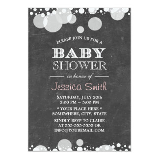 Light Spots Chalkboard Baby Shower Card