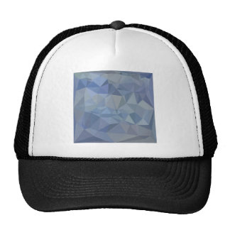 Light Steel Blue Abstract Low Polygon Background Cap