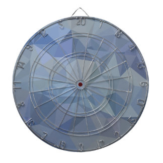 Light Steel Blue Abstract Low Polygon Background Dartboards