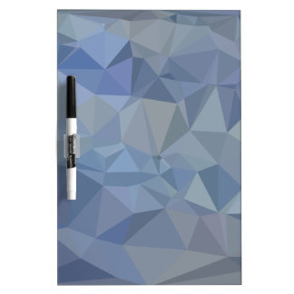 Light Steel Blue Abstract Low Polygon Background Dry Erase Board