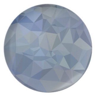 Light Steel Blue Abstract Low Polygon Background Party Plates