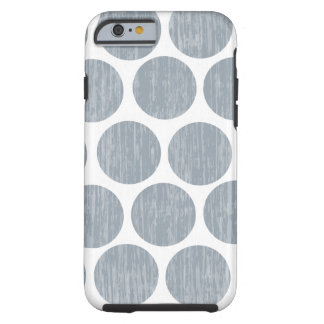 Light Steel Gray Distressed Polka Dot iPhone 6 Tough iPhone 6 Case
