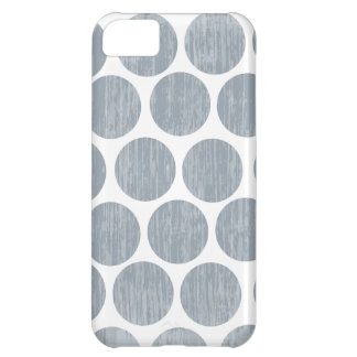 Light Steel Gray Distressed Polka Dot iPhone iPhone 5C Case