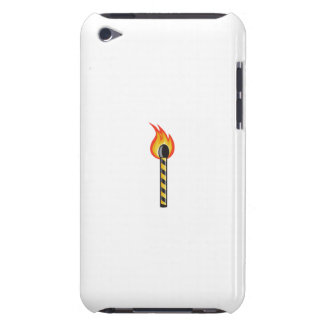 Light Striped Match Stick On Fire Retro iPod Touch Cover