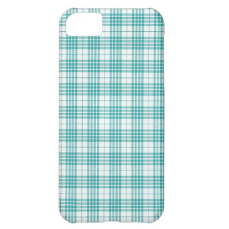 Light Teal Blue Plaid iPhone 5C Covers