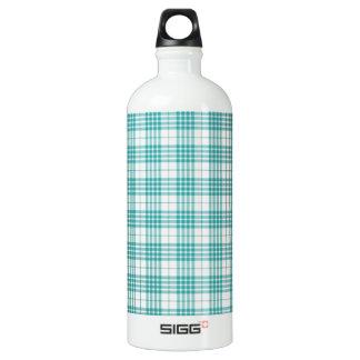 Light Teal Blue Plaid SIGG Traveler 1.0L Water Bottle