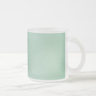 LIGHT TEAL BLUISH GREEN GIRLY BEAUTY FASHIONABLE C FROSTED GLASS COFFEE MUG
