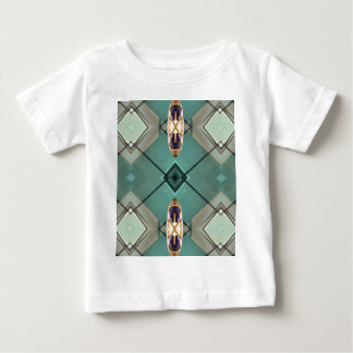 Light Teal Nuetral Tone Geometric Pattern Baby T-Shirt