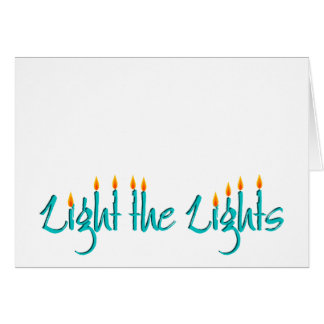 Light the Lights Greeting Card