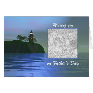 Light the Way Blue Father's Day (photo frame) Card