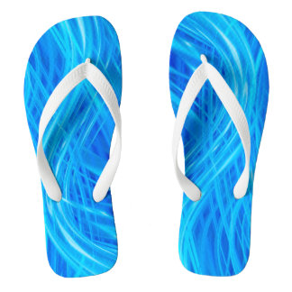 Light Through Blue Abstract Pattern Thongs