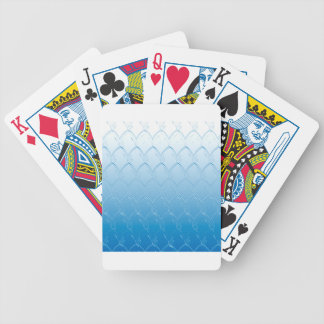 Light to Dark Blue Scales Bicycle Playing Cards