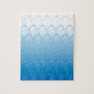 Light to Dark Blue Scales Jigsaw Puzzle