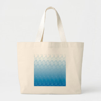 Light to Dark Blue Scales Large Tote Bag