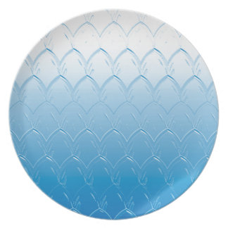 Light to Dark Blue Scales Plate