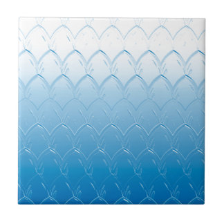 Light to Dark Blue Scales Tile