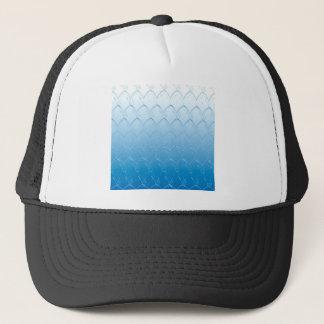 Light to Dark Blue Scales Trucker Hat