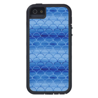 Light to Dark Blue Watercolor Scales iPhone 5 Cases