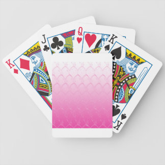Light to Dark Pink Scales Bicycle Playing Cards