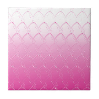 Light to Dark Pink Scales Ceramic Tile