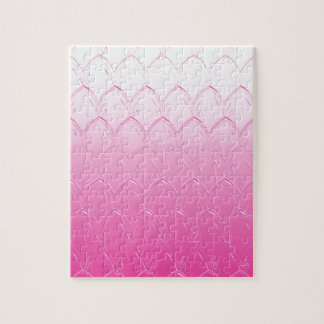 Light to Dark Pink Scales Jigsaw Puzzle