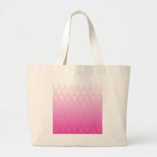 Light to Dark Pink Scales Large Tote Bag