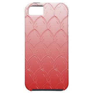 Light to Dark Red Scales Case For The iPhone 5
