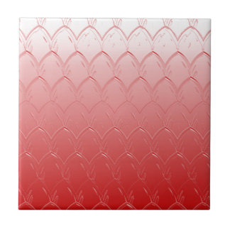 Light to Dark Red Scales Ceramic Tile
