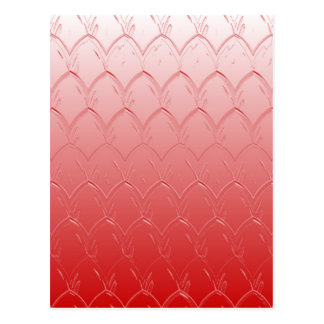 Light to Dark Red Scales Postcard