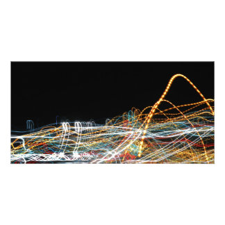 Light trail picture card