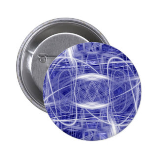 Light trails on a blue background 6 cm round badge