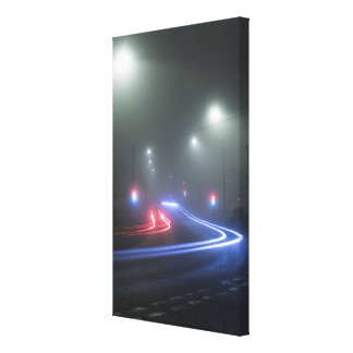 Light Trails Stretched Canvas Print
