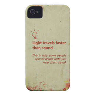 Light Travels Faster Cream Grunge iPhone Case Case-Mate iPhone 4 Case