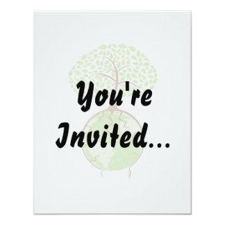 light tree on world eco design.png 11 cm x 14 cm invitation card